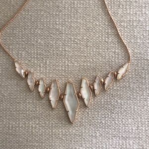 Kendra Scott rose gold, mother of pearl necklace